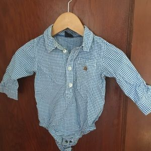 Baby gap blue gingham shirt